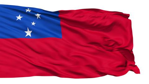 Waving national flag of Samoa Stock Video Footage