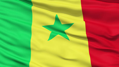Waving national flag of Senegal Stock Video Footage