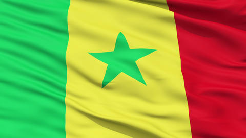Waving national flag of Senegal Animation