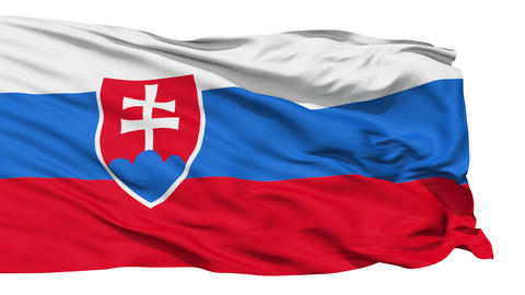 Waving national flag of Slovakia Stock Video Footage