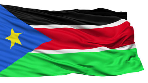 Waving national flag of South Sudan Stock Video Footage