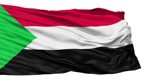 Waving national flag of Sudan Stock Video Footage