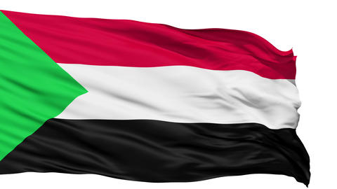 Waving national flag of Sudan Animation