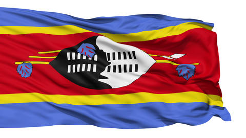 Waving national flag of Swaziland Stock Video Footage