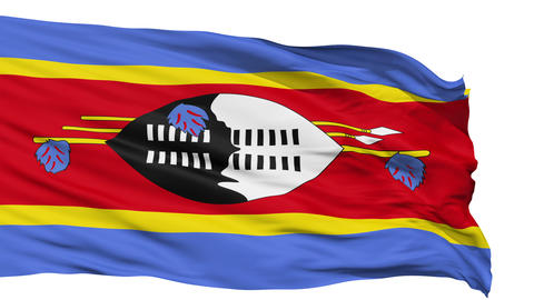 Waving national flag of Swaziland Animation