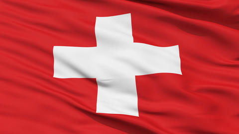 Waving national flag of Switzerland Stock Video Footage