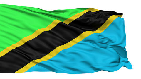 Waving national flag of Tanzania Stock Video Footage