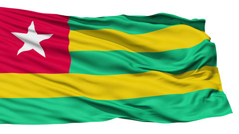 Waving national flag of Togo Stock Video Footage