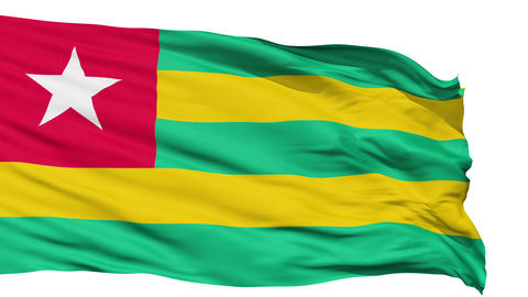Waving national flag of Togo Animation