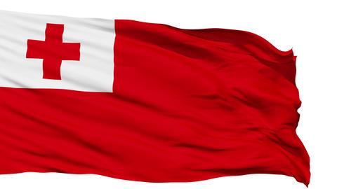 Waving national flag of Tonga Animation