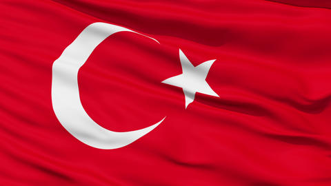 Waving national flag of Turkey Stock Video Footage
