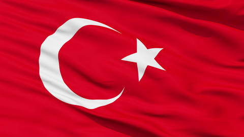 Waving national flag of Turkey Animation