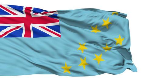 Waving national flag of Tuvalu Stock Video Footage