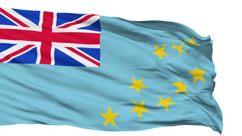 Waving national flag of Tuvalu Stock Video Footage