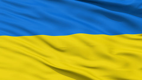 Waving national flag of Ukraine Animation