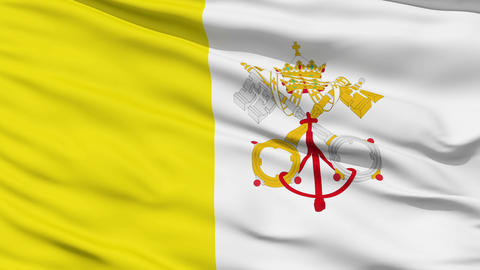 Waving national flag of Vatican Stock Video Footage