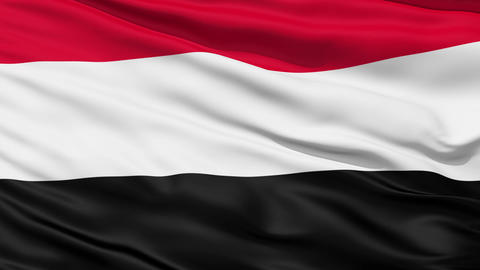 Waving national flag of Yemen Stock Video Footage