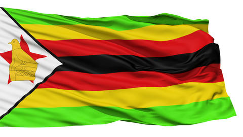 Waving national flag of Zimbabwe Stock Video Footage