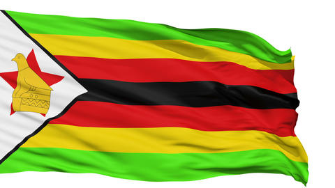 Waving national flag of Zimbabwe Animation