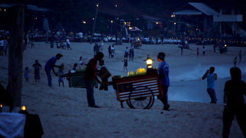 Beach restaurants 2 Stock Video Footage