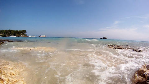 Beach slow motion 6 Stock Video Footage