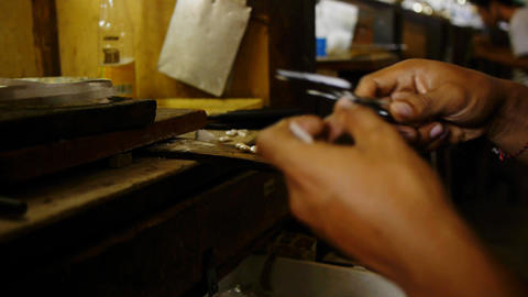 Jewelry works sequence Stock Video Footage