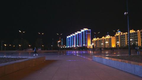Heihe City Evening Promenade 05 Stock Video Footage