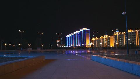 Heihe City Evening Promenade 05 Footage