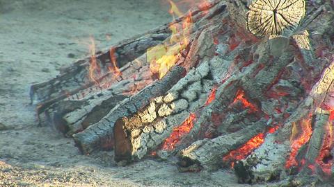 campfire big Stock Video Footage