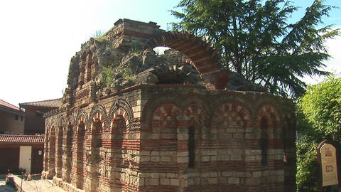 nessebar church 16 Stock Video Footage