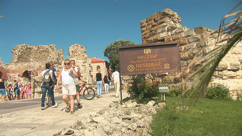 nessebar entranse Stock Video Footage