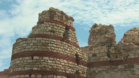 nessebar wall 4 Stock Video Footage