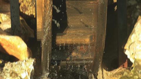 water wheel 1 Stock Video Footage