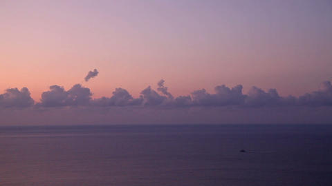 Cloudscape above the sea at sunrise Stock Video Footage