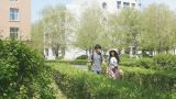 Happy Chinese Young Couple Walking Footage