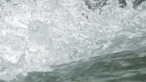 Water movement of the Okutama River,slow motion,Tokyo,Japan Stock Video Footage