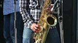 Man playing with saxophone on the concert Footage