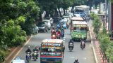 10704 indonesia jakarta city traffic close real time Footage