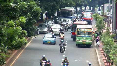 10704 indonesia jakarta city traffic close real time Stock Video Footage