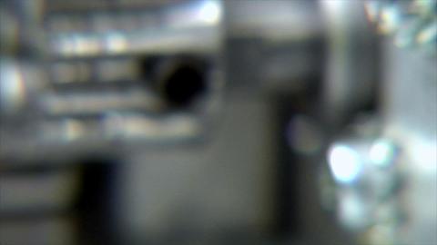 10708 cogs gear wheel into focus DOF Stock Video Footage