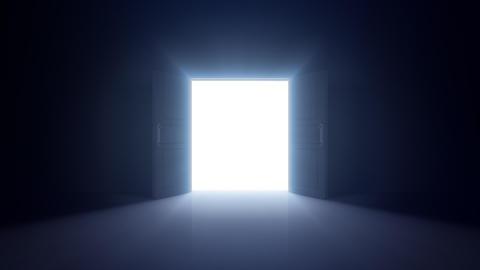 Door Opening Digital DD F1 In3 HD Stock Video Footage
