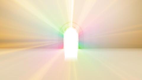 Door Opening Rainbow CW F2 In3 HD Stock Video Footage
