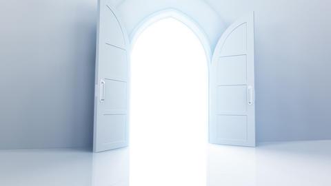 Door Opening Rainbow CW L1 In3 HD Stock Video Footage