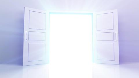 Door Opening Rainbow DW L1 In3 HD Stock Video Footage