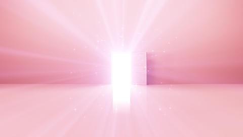 Door Opening Rainbow SW F2 In3 HD Stock Video Footage