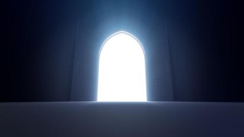 Door Opening sky2 CD M1 In HD Stock Video Footage