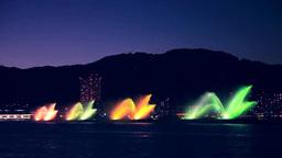 はな噴水と大津市街の夕景 Footage