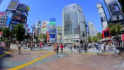 渋谷スクランブル交差点の人々 Footage