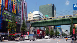 Akihabara Electric Shopping District stock footage