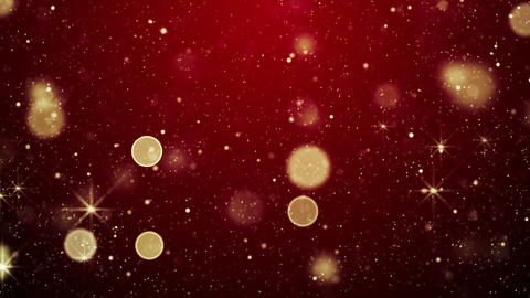 red christmas lights and stars loop background 4k (4096x2304) Animation